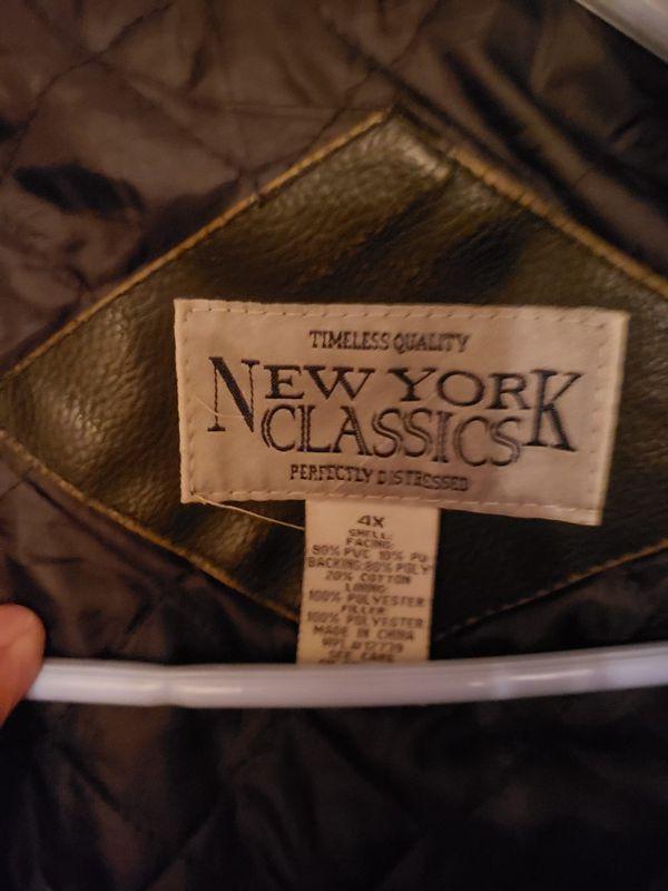 New York classic leather jacket