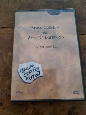 Bruce Campbell vs army of darkness dvd for Sale in San Jacinto, CA