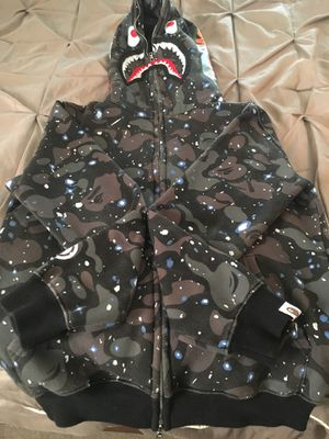 Bape space hoodie size medium but runs small for Sale in Orlando, FL