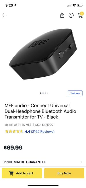 mee audio Connect Hub Universal Dual headphone bluetooth audio transmitter for Sale in Pinecrest, FL
