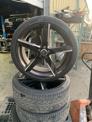 22 inch Rims and tires. for Sale in Ontario, CA
