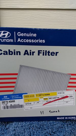Hyundai - genuine cabin air filter for Sale in Chicago, IL