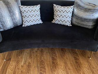 Velvet Black Sofa for Sale in Nashville,  TN