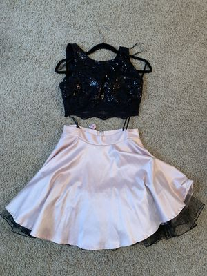 Two piece black and pink Dama/Quince/16 dress for Sale in Tracy, CA
