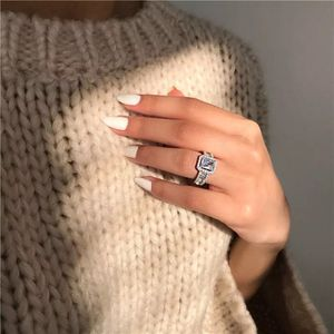 Luxury Sparkling Lab Created Diamond 14K White Gold Wedding Party Ring Size 6-7-8 for Sale in Manhattan Beach, CA