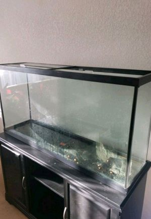 Fish Tank 60 gal with stand for Sale in Richmond, CA