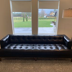 Mid Century Modern Black Leather Sofa Couch for Sale in Battle Ground, WA