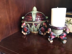 Tropical decorative container and candle holder for Sale in Antioch, CA