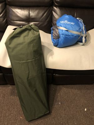 Sleeping cot and sleeping bag used once for Sale in Monroeville, PA