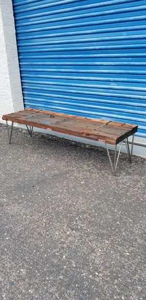 """Unique rustic door coffee table. Low profile. Measures approx: 58.5"""" long x 17"""" wide x 15"""" tall for Sale in Phoenix, AZ"""