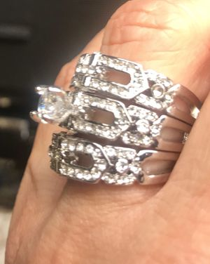 New Engagement Wedding rings Size 7-With Box in Stainless Steel for Sale in Cleveland, OH