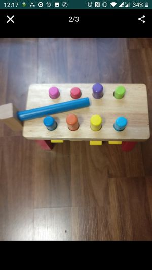 Toddler color wodden popper for Sale in Minneapolis, MN