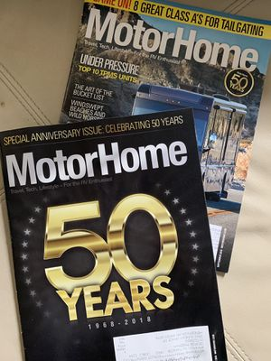 Motorhome magazine 50 year anniversary 2018. Two magazines for Sale in Henderson, NV