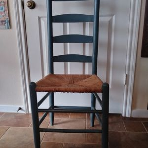 Vintage Antique? Ladder Back Chair w/ Rush Seat for Sale in Pearland, TX