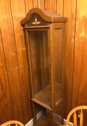 Antique Style Wood, Glass & Mirror Corner Cabinet Shelving for Sale in Vincennes, IN
