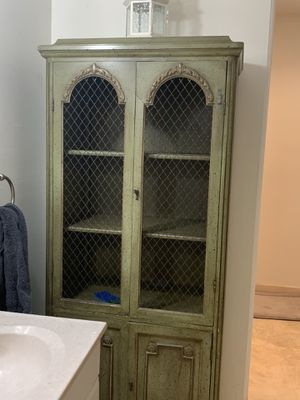 Green (antique looking) armoire/chest) for Sale in Miami, FL