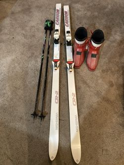Nishizawa Cr /2 Carbon Skis ,Salomon Bindings , Rossignol Ski Poles and Size 12 Boots !!! $ 50 obo for Sale in Nellis Air Force Base,  NV