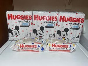 Huggies Size 4 Bundle for Sale in Gilbert, AZ