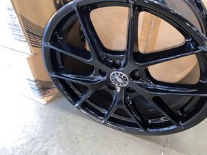 Black jack rims with tires full package 18inch 5x108/5x110 for Sale in Troy, MI