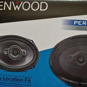 Car speakers : KENWOOD 6×9 4 way 600 watts car speakers for Sale in Bell Gardens, CA