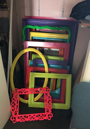 18 colorful frames/ Great for photo props for Sale in Anaheim, CA