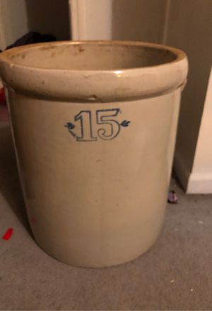 15 gallon pickling crock for Sale in Saint James, MO