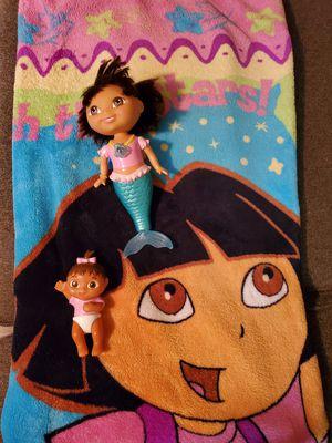 Dora blanket and Doea mermaid for Sale in Stockton, CA