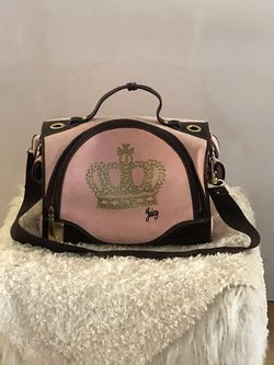Rare! Juicy Doggie Couture Pink W/ Gold Crown Dog CarrierTravel Handbag for Sale in Glendale,  AZ