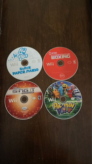 Boxing Championship, Super paper Mario, Sing it, PAC-Man Party! for Sale in New Lenox, IL