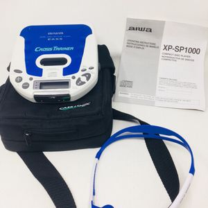 Aiwa Portable CD Player XP-SP1000 With Original Headphone Manuals & Carry Case for Sale in Portland, OR