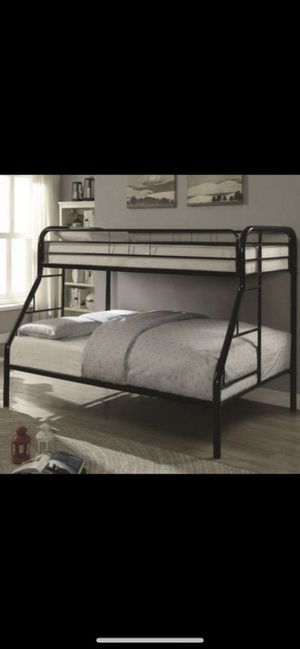 Twin over full bunk bed frame with mattresses for Sale in Dallas, TX