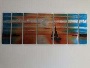 Like New Aluminum Painting Sunset for Sale in Lincoln, NE