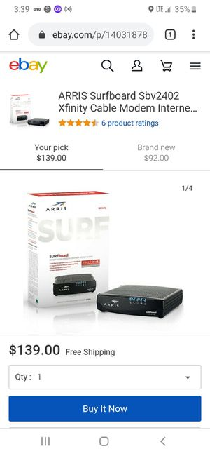 Surfboard xfinity cable modem for Sale in Pasadena, TX