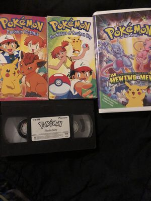 4 POKÉMON VHS MOVIES ALL SHOWN for Sale in Las Vegas, NV
