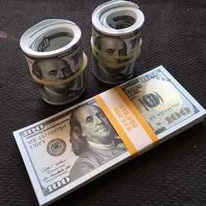 Professional Movie Prop Money 💰 $10,000 in $100's <READ DESCRIPTION > for Sale in Cranston, RI