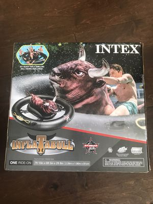 Intex Inflatabull Bull-Riding Giant Inflatable Swimming Pool Float for Sale in New York, NY