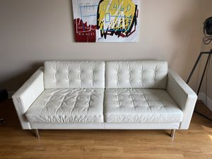 White Leather Couch - IKEA Landskrona for Sale in San Francisco, CA