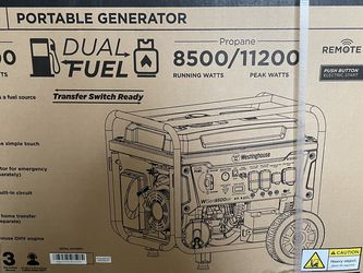 Westinghouse 9500/12500 Portable Dual fuel Generator Unopened for Sale in Boise,  ID