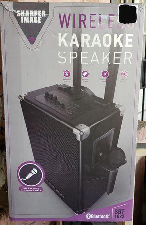 Sharper Image Wireless Karaoke Speaker SBT 1022 with Two Microphones for Sale in Washington, DC