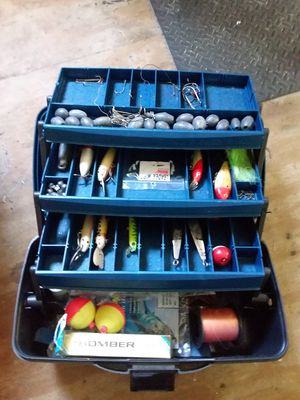 Fishing box and tackle for Sale in Hollywood, FL