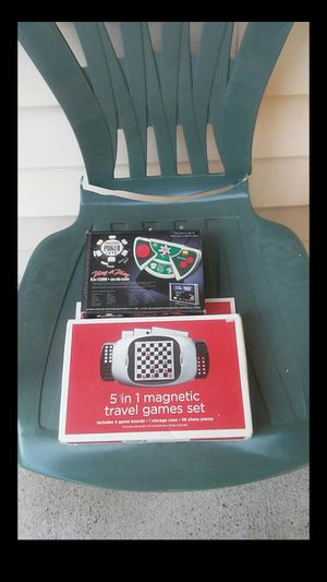 Plug & Play Poker & 5in1 Magnetic Travel Games for Sale in Nashville, TN