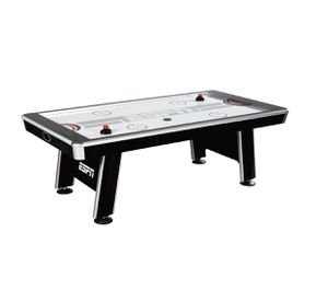 ESPN 8' Silver Streak Air Powered Hockey Table, LED Touch Panel Scorer, Black/White/Red for Sale in Austin, TX