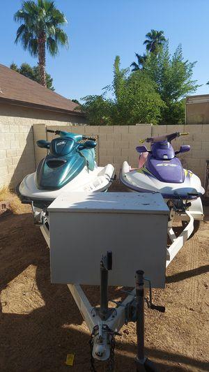 Jet Ski '97 Sea•Doo GTX and '96 Kawasaki STS w/trailer for Sale in Chandler, AZ