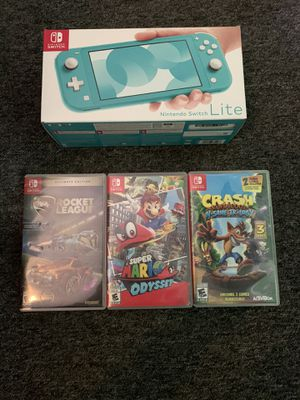 Nintendo Switch Lite Brand New With 3 Games for Sale in Lakewood, OH