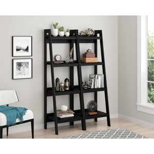 Set of 2, Home Hayes 4 Shelf Ladder Bookcase Bundle, Black (Fathers Day Special!) jM for Sale in Houston, TX