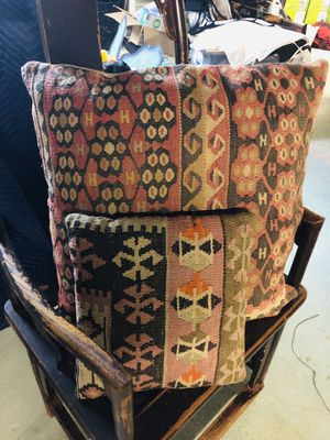 Two authentic kilim pillows for Sale in Sudbury, MA