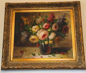 Flowers original oil painting by HJ Frantz for Sale in Sun Lakes, AZ