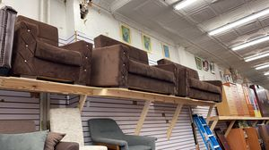 Sofa bed and love seat bed and chair bed and storage 3 prices set for Sale in The Bronx, NY