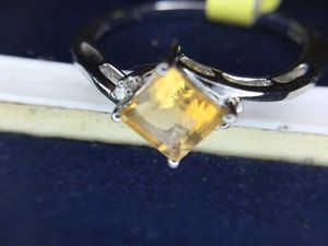 Genuine citrine and diamond ring size 6 for Sale in Cumberland, RI