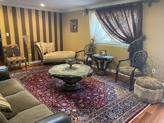 6 pieces living room set, can be sold separate pieces too. Large sofa, chaise lounge sofa, 3 side chairs and ottoman for Sale in Livonia,  MI